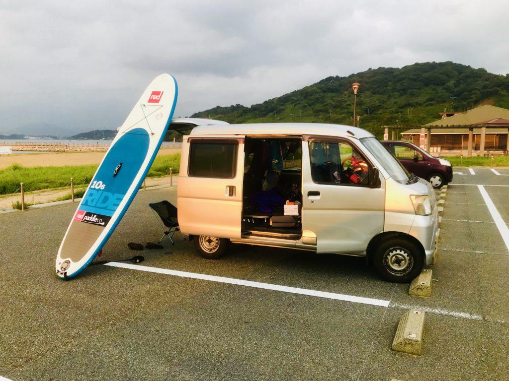 車中泊で九州1ヶ月SUPツアー