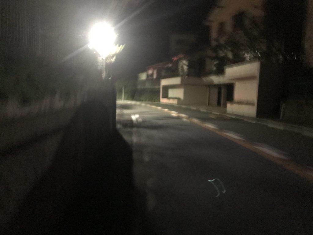 逗子の夜道