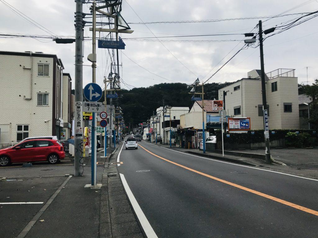新逗子駅からの道