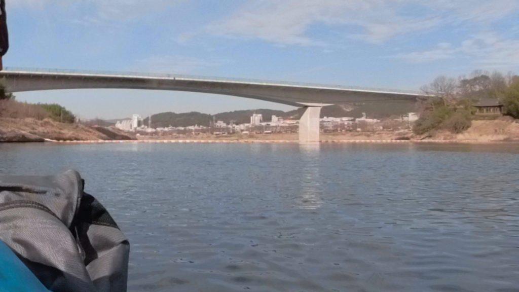 水上から見た韓国の大和江(テファガン)