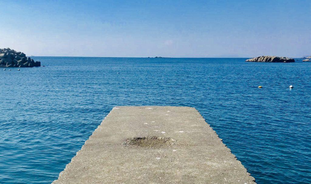研修の後は海でランチ