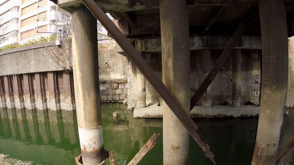 大田区の大森にある内川水門の前の老朽化した話