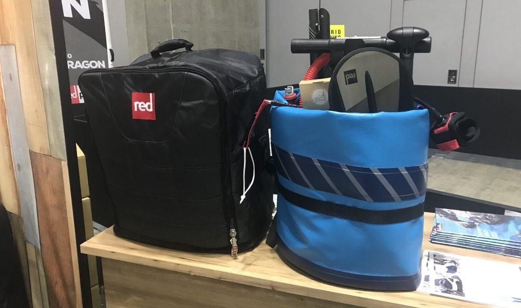パシフィコ横浜で開催されたSUPやサーフィン、スノボー、スケボー、アウトドアの展示会、INTERSTYLE(インタースタイル)2019で見たインフレータブルSUP専門メーカー, redpaddleの最新モデルCOMPACT(コンパクト)
