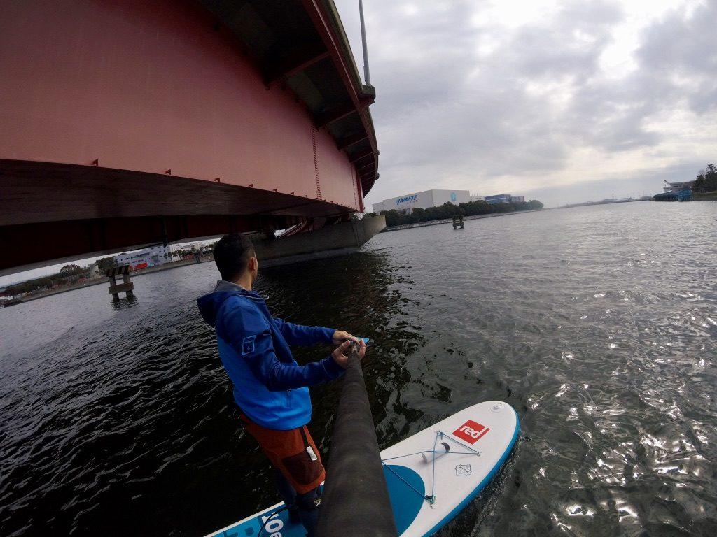 大田区の人工島、昭和島一周SUPツーリング。大和大橋