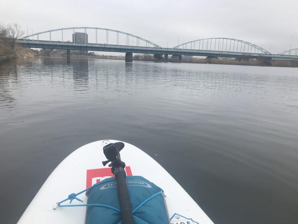 多摩川をSUPでエントリー