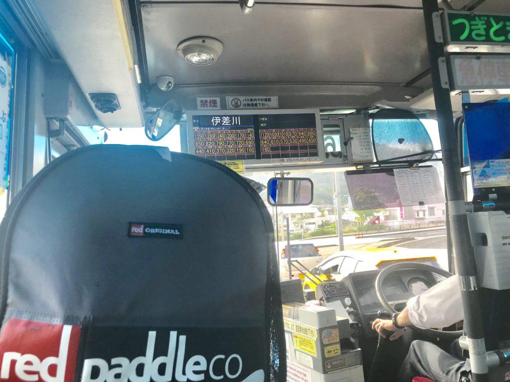 名護のバスにSUP