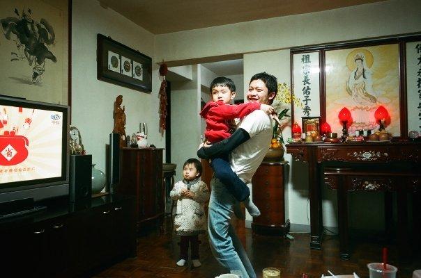 2009年の台湾の友達の家。あだ名は蘋果超人(ピングオジャオルン、リンゴスーパーマン)!