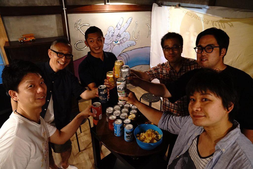 大田区Meetup@Yoichiの様子。名刺交換とかの前にまずは飲む!