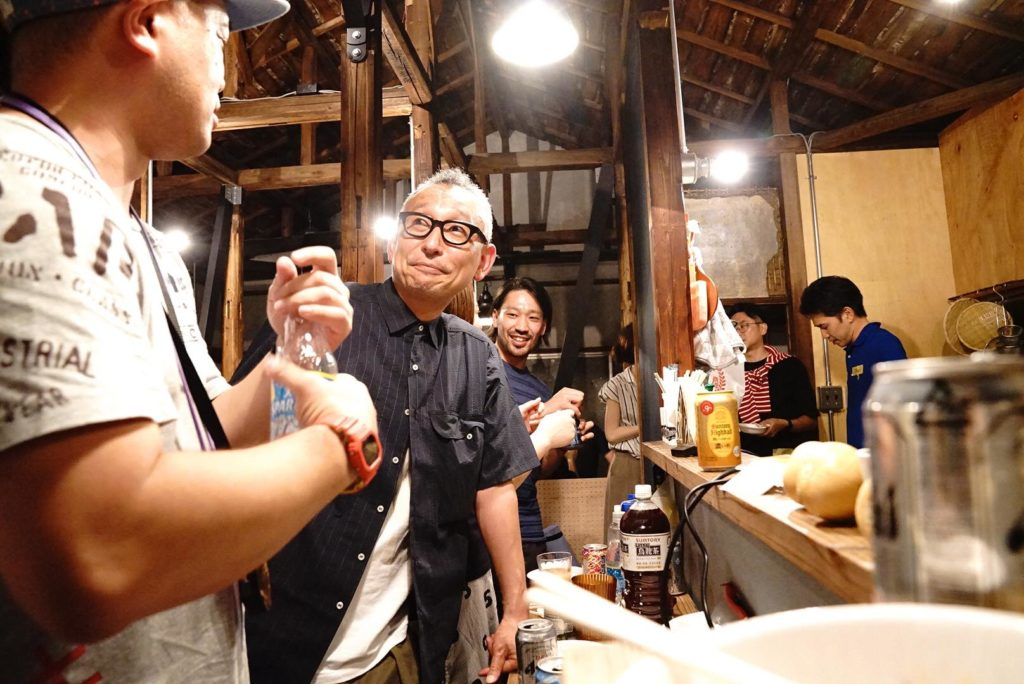 大田区Meetup@Yoichiの様子。G.U .Style1の小薬さん。