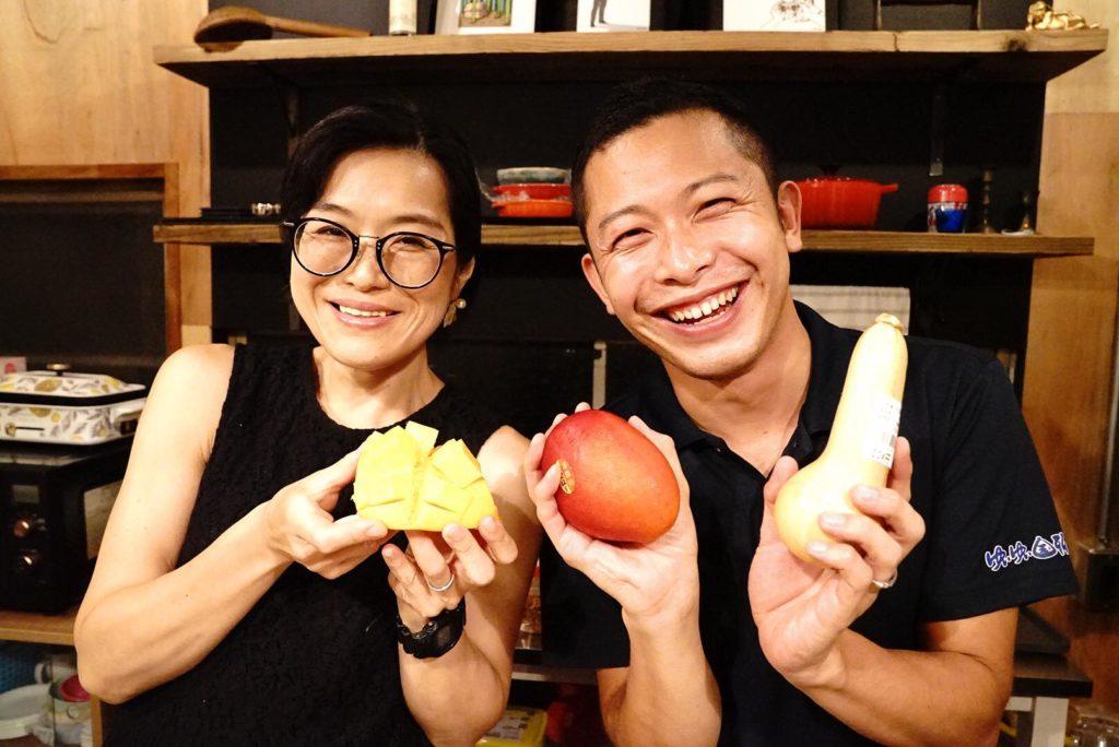 大田区Meetu@YOICHIの様子。国頭産マンゴーをアピール。