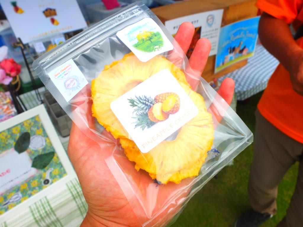 国頭村の最高級パイナップル、ゴールドバレルを使ってドライフルーツを作るアン・エリザベス・シーバーさんお訪問