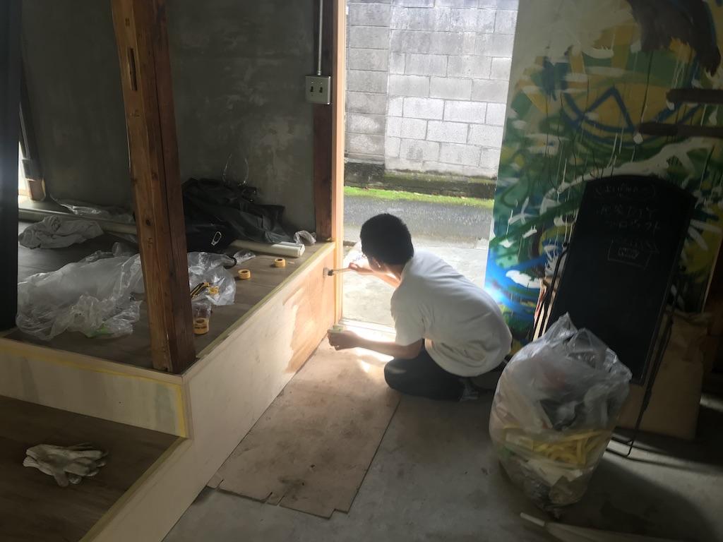 羽田の古民家スペースYOICHIのリノベーションとDIYの様子