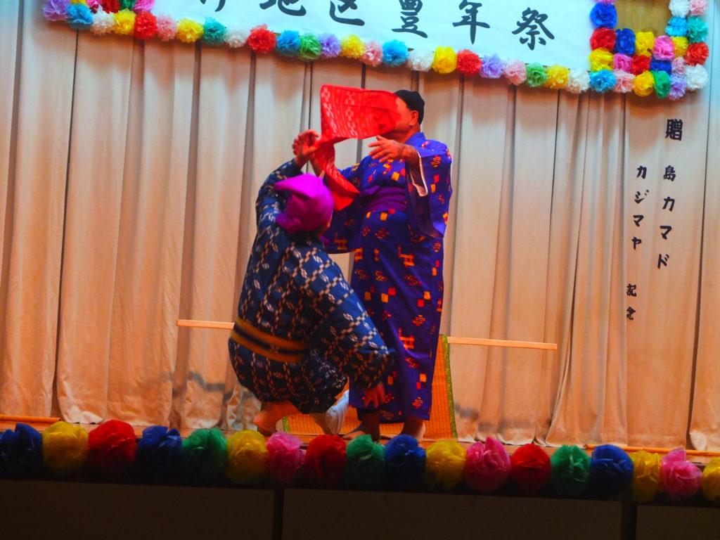 沖縄本土最北端に位置する国頭村。その集落の1つ、伊地の豊年祭で行われた戻り籠