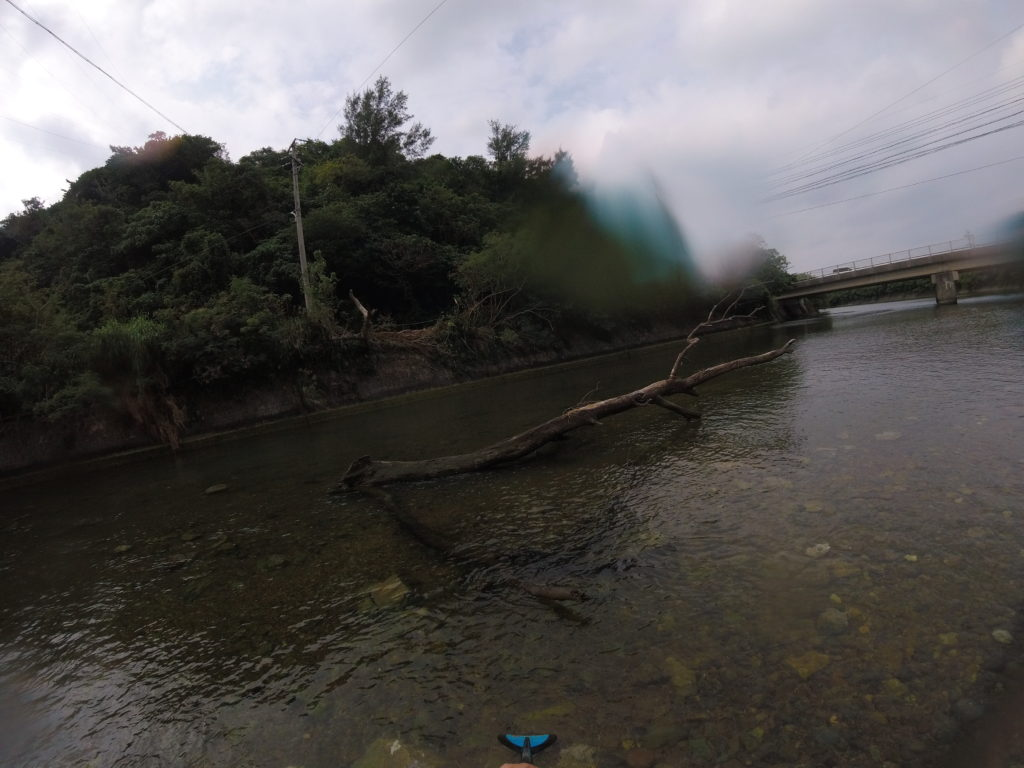 比地大滝に繋がる比地川でSUP!